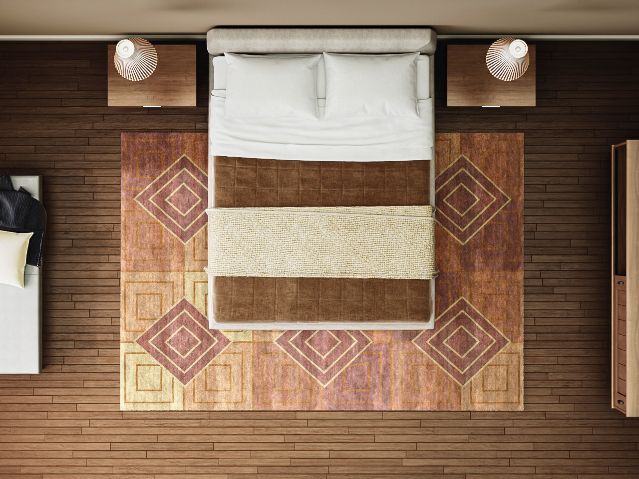 Rug sizes for Queen Size beds